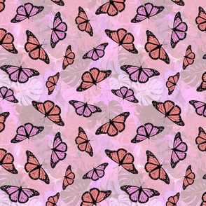 Terracotta floral pattern