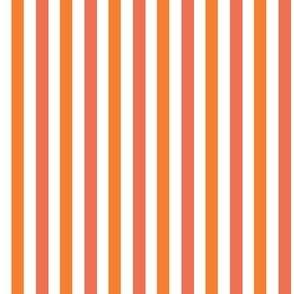 Papaya stripe // orange and coral stripe