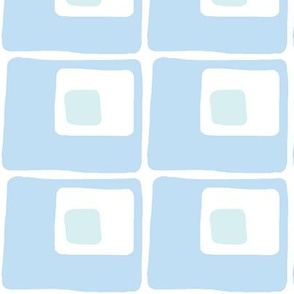Square Spots (sky blue and light aqua)