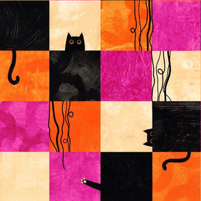 Cat String Patchwork