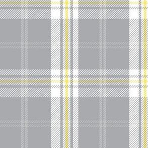 Aloha Patchwork Plaid-  Ultimate Gray and Illuminating Yellow
