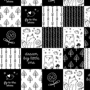 nursery monochrome black white