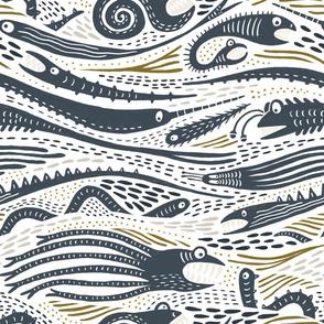 Creatures of the Deep (navy)