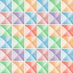 Parisian Pinwheel Pastels 12x12 GOOD