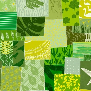 Green oasis patchwork