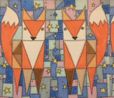Patchwork Foxes