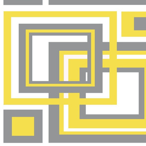Yellow Gray Modern Mid Century