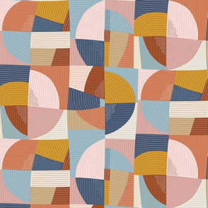 Modern patchwork quilt / Medium scale
