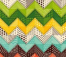 Chevron patchwork