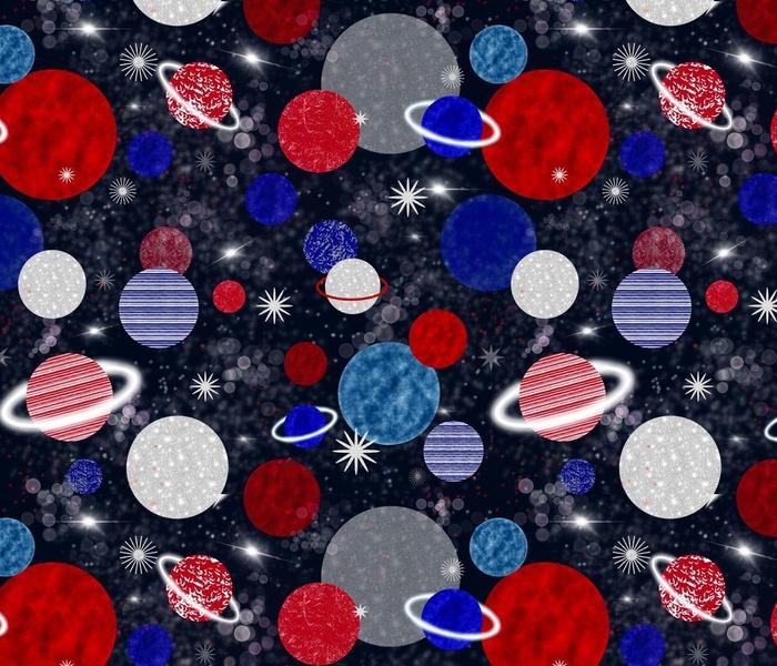 A Patriotic Galaxy - Intergalactic Adventures on Navy- Large Scale