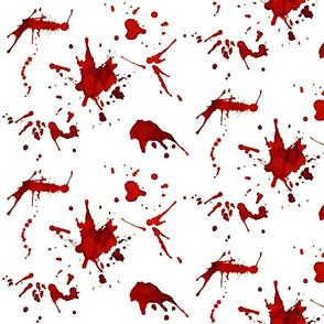 WHITE WALL BLOOD SPLATTERS