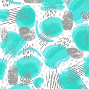 Abstract  Joy - Aqua