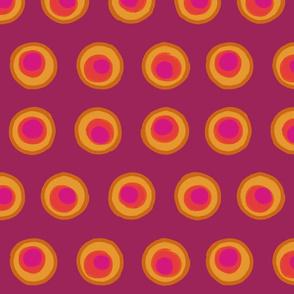 Magenta Concentric Circles