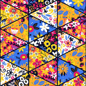 Garden Trellis Triangle Cheater Quilt