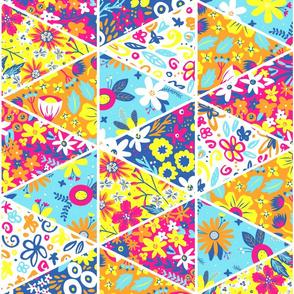 Garden Trellis Triangle Chater Quilt