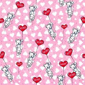KiniArt Valentine Dangling Westies