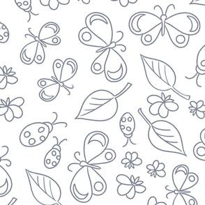 Color Me: Butterflies & Lady Birds