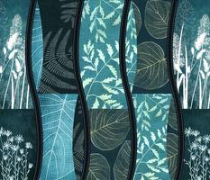 cyanotype style patchwork