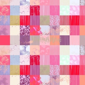 Pink Paint Patchwork