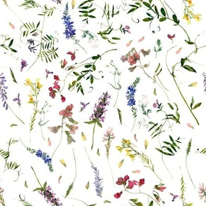 "10"" Scandinavian hand painted Wildflower Meadow"