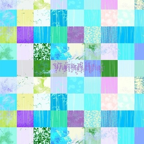 Turquoise Paint Patchwork