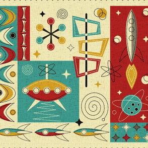 Space Age Fun! Cheater Quilt