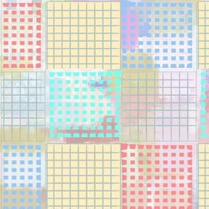 SHADOWY PASTEL GRANNY QUILT