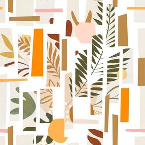 Mid Mod Foliage Patchwork 1. Earthy M