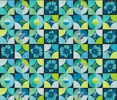 Coastal Critters Granny Square-blue black-SFDC Patchwork Contemporary Granny-chic-octopus fish turtle