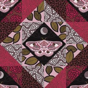 """Emperor Moth 1 (12"""") - pink"""