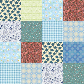 Granny Chic Patchwork Cheater Quilt