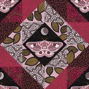 """Emperor Moth 1 (18"""") - pink"""