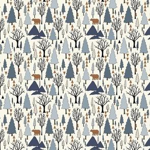Forest - Mini - Denim Blue, Copper