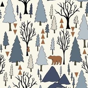 Forest - Large - Denim Blue, Copper