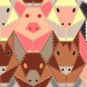 Hand-Stitched Farm Animals - Extra Large