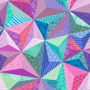Patchwork low poly