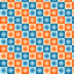 Orange and Blue Checkerboard