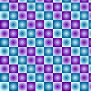 Purple Blue Radial Checkerboard