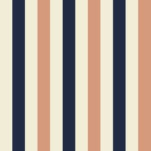 Stripes half inch - Tan and Navy