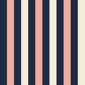 Stripes Half Inch - Navy Pink