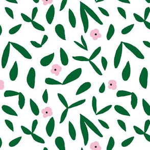 Leaf and floral (green)