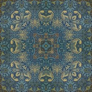 William Morris Tribute  Blue Beige
