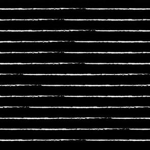 The minimalist basic Paris breton stripes horizontal boho trend lines monochrome black and white