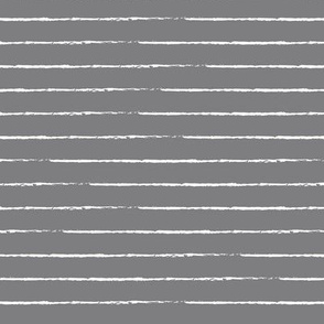 The minimalist basic Paris breton stripes horizontal boho trend lines slate gray white
