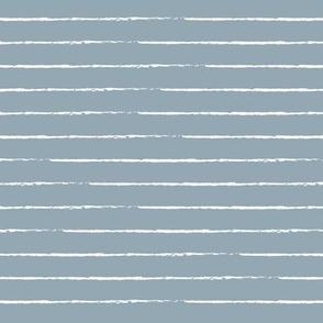 The minimalist basic Paris breton stripes horizontal boho trend lines moody blue