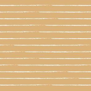 The minimalist basic Paris breton stripes horizontal boho trend lines honey yellow