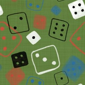 Let's play dice green