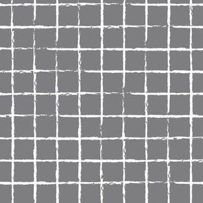 The minimalist distorted grid abstract checkered stripes geometric neutral nursery in slate gray white