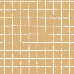 The minimalist distorted grid abstract checkered stripes geometric neutral nursery in honey yellow