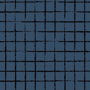 The minimalist distorted grid abstract checkered stripes geometric neutral nursery in navy blue black